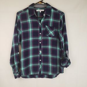 Foxcroft Women's Plaid Button down sz 4P